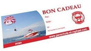 Chèque cadeau bateau parachute