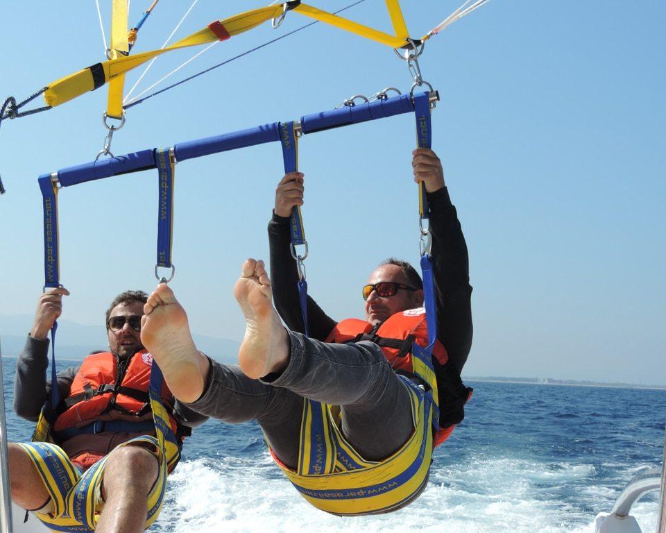 Vol bateau parachute près de Fréjus