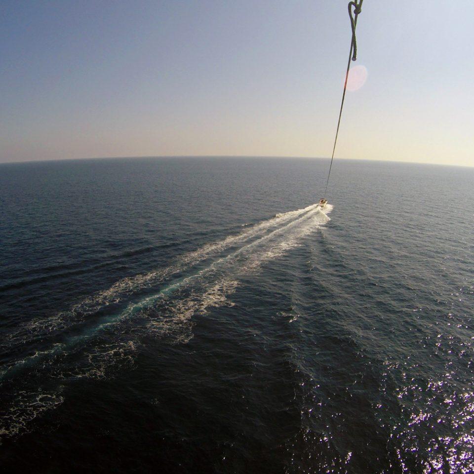 Vue en vol parachute ascensionnel
